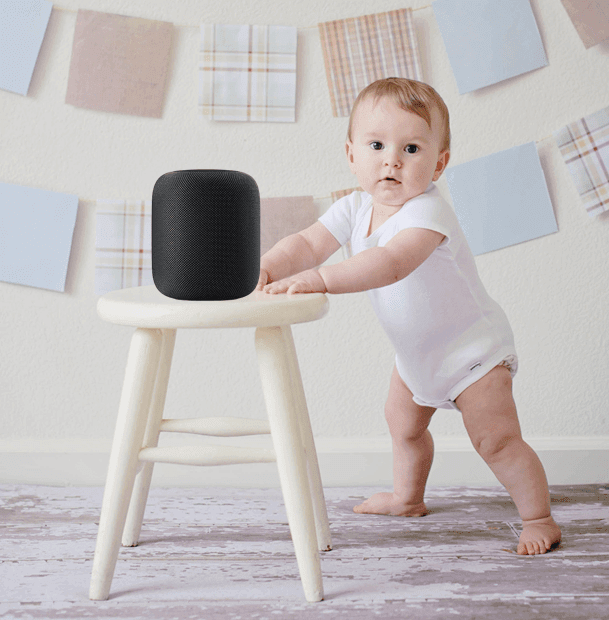 Apple HomePod and Baby, Child