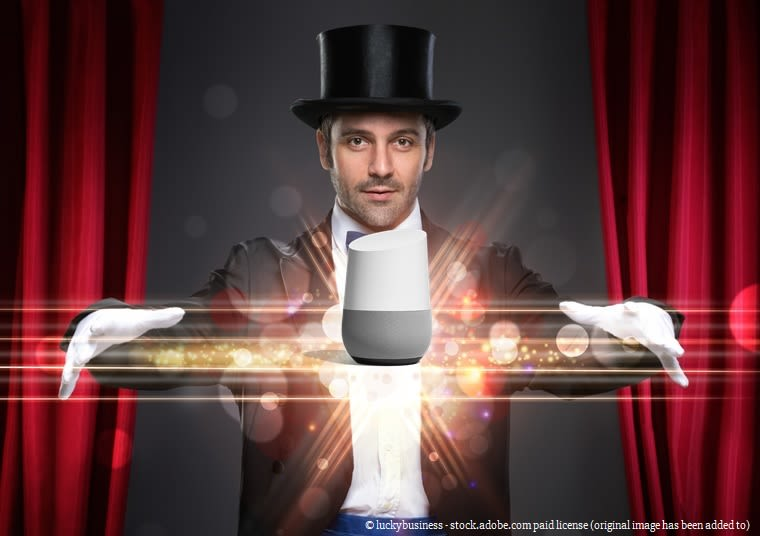 Magician with Google Home © luckybusiness - stock.adobe.com paid license