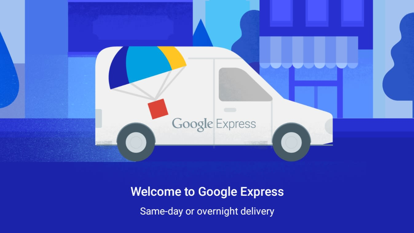 Google Express Logo and Van