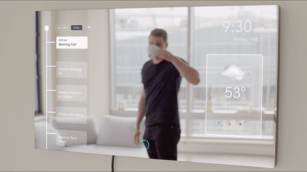 AYI smart mirror functions