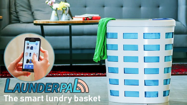 launderpal the first smart laundry basket with phone app