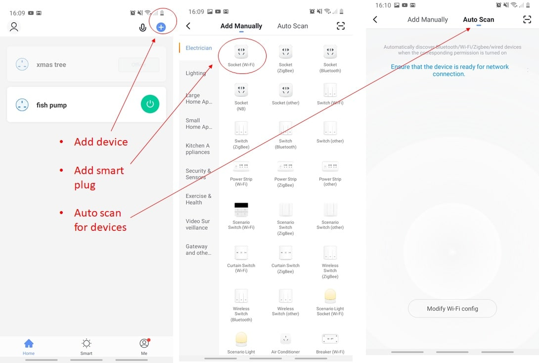 How to set up device in smart life app