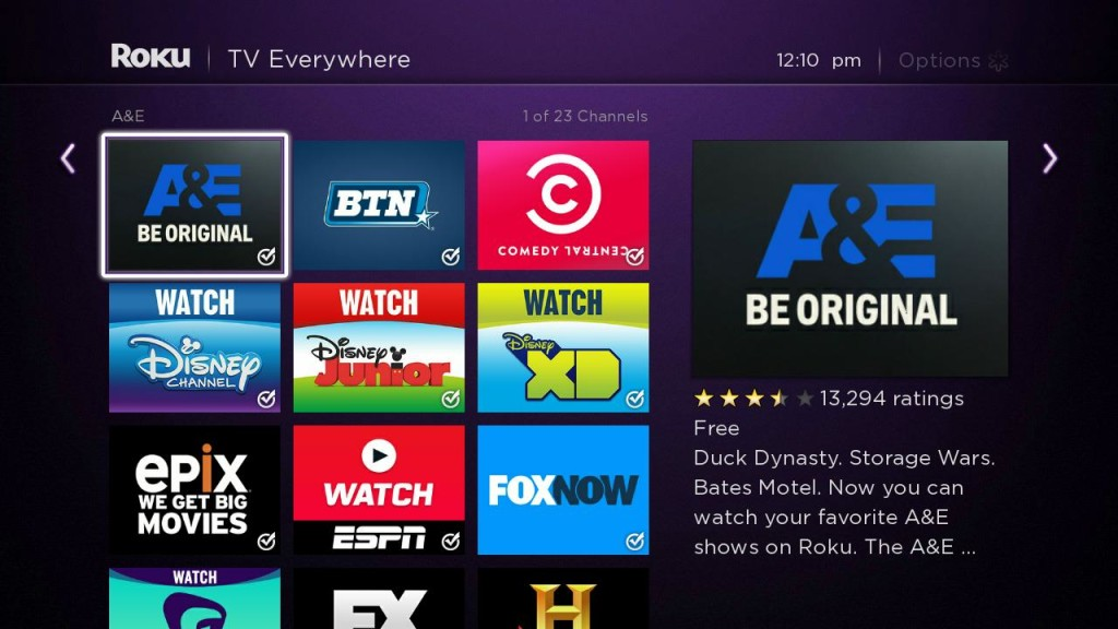 add roku tv channels and apps