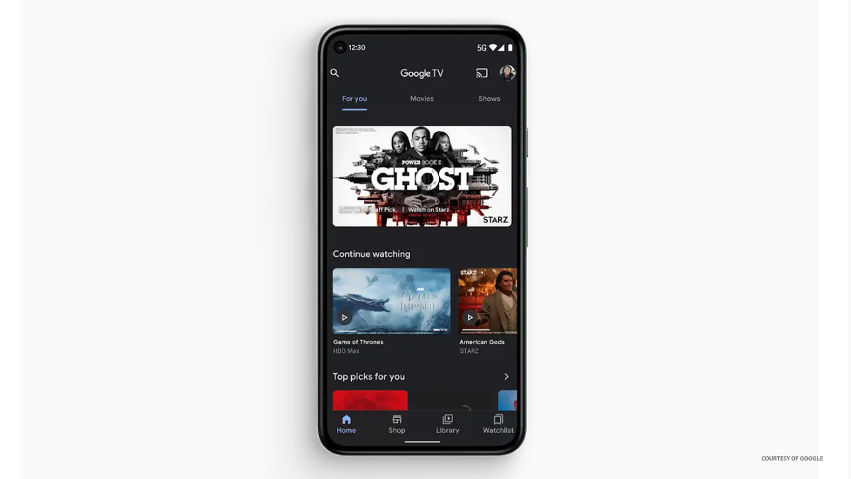 The Google TV App